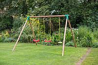 Детская деревянная качель 3 в 1 Oslo Little Tikes - США - состоит из деревянных прочных сосновых балок