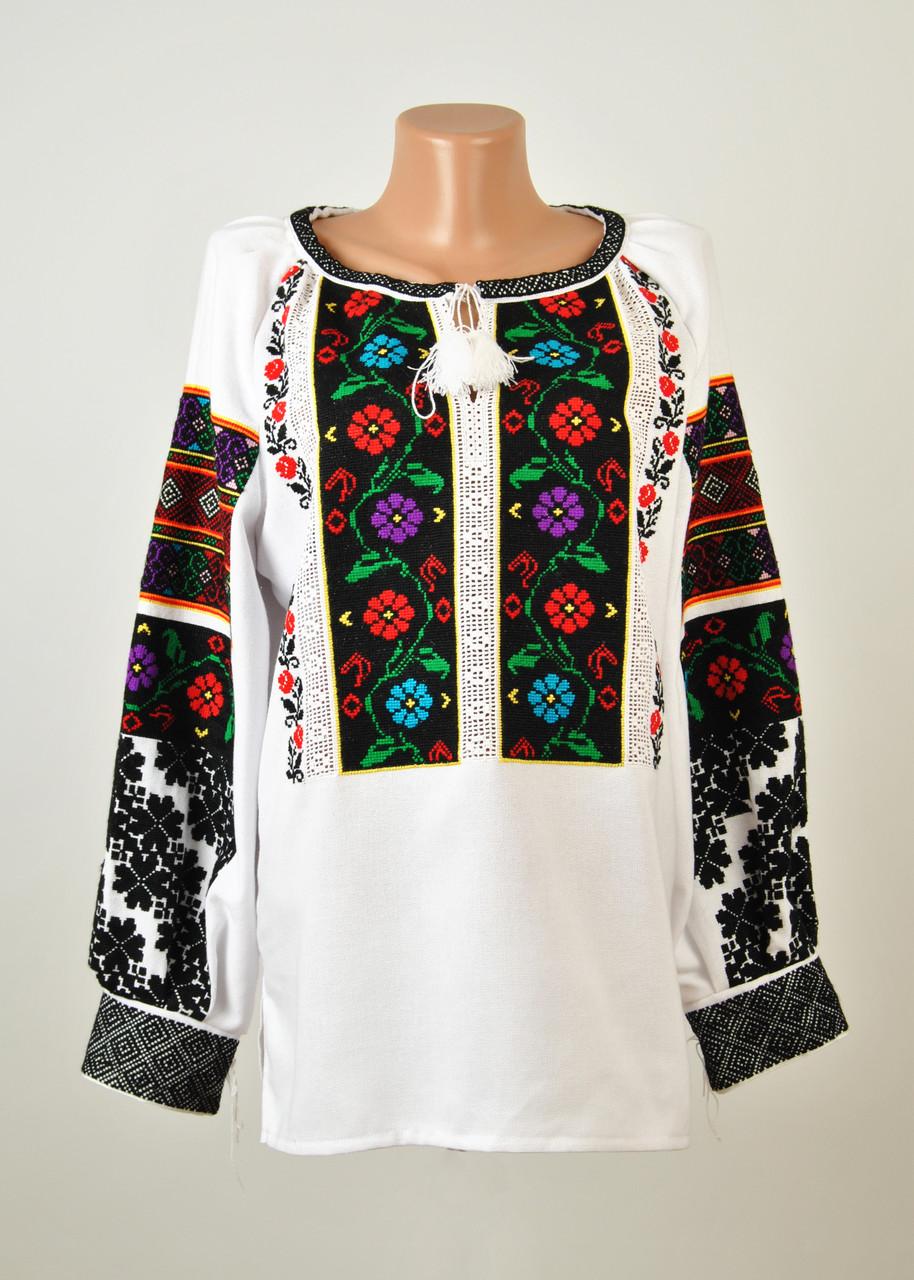 e29a2b1a0d3f7b Жіноча вишиванка ручної роботи на домотканому полотні з борщівським  орнаментом - Інтернет-магазин вишиванок для