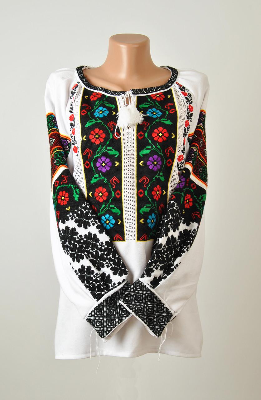 Жіноча вишиванка ручної роботи на домотканому полотні з борщівським  орнаментом  83730ce5fffbd