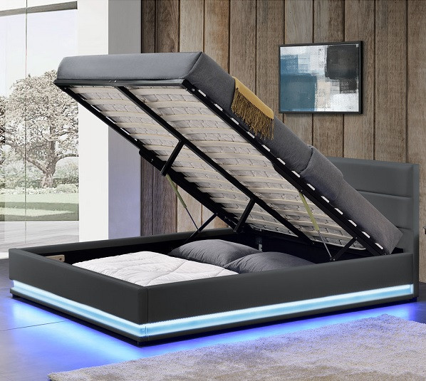 Кровать с подьемным механизмом TOU 180х200 см. с LED подсветкой