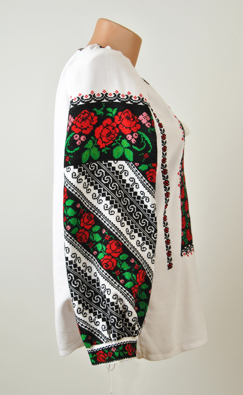 ... Жіноча вишиванка ручної роботи на домотканому полотні з борщівським  орнаментом  f8e55a0db8a48