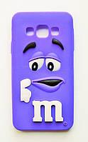 Чехол на Самсунг Galaxy A3 A300H M&Ms приятный Силикон Фиолетовый, фото 1