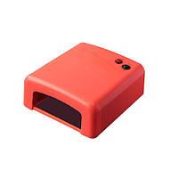 УФ лампа для наращивания ногтей Global 36w коралл