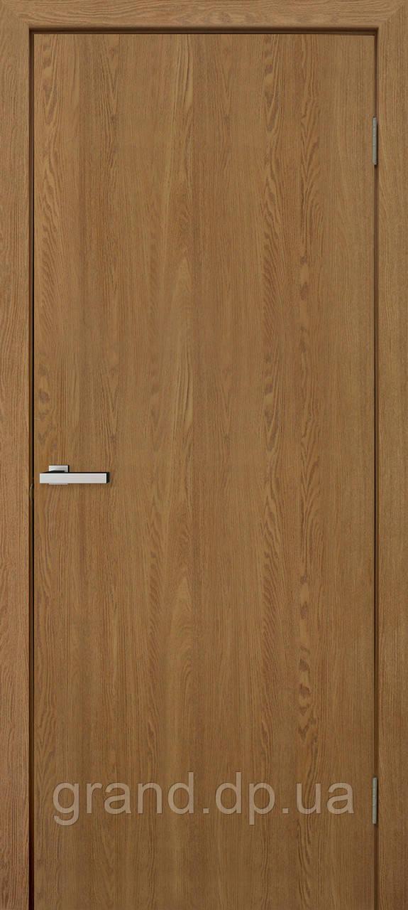 Двери межкомнатные Омис Гладкая глухая экошпон, цвет ольха европейская