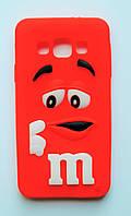 Чехол на Самсунг Galaxy A3 A300H M&Ms приятный Силикон Красный