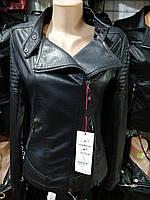 """Женская куртка из искусственной кожи """"Angmifer"""" (S-XL, норма) Китай — купить оптом по низким ценам G7751"""