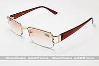 Очки для зрения с диоптриями +/- РМЦ 62-64. С тонированными линзами