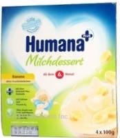 Humana з бананом і з натуральними пребіотиками з 6 міс пластик, 4*100г
