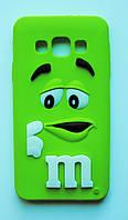 Чехол на Самсунг Galaxy A3 A300H M&Ms приятный Силикон Зеленый, фото 1
