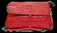 Эксклюзивная женская сумка из натуральной кожи красного цвета RYL-001600, фото 1