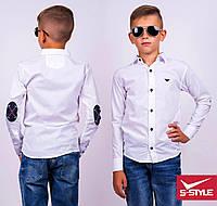 Модная белая рубашка для школы