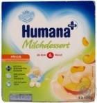 Кисломолочный продукт Humana(Хумана)c клубникой,персиком и пребиотиками с 6 месяцев, 4*100гр