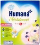 Humana з яблуком і чорницею з натуральними пребіотиками з 6 міс пластик, 4*100г