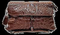 Эксклюзивная женская сумка из натуральной кожи коричневого цвета RYL-001603
