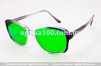 Глаукомные очки (при глаукоме) с зелеными стеклянными линзами