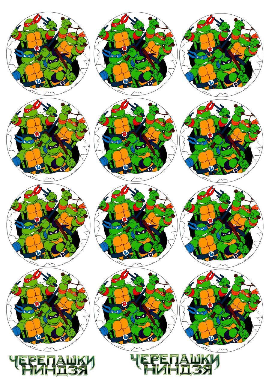 Вафельна картинка Ніндзя-черепашки