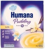 Дитячий ванільний пудинг Humana від 10 мес пластик, 4*100г