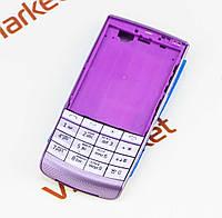 """Корпус для Nokia X3-02 """"ААА""""(фиолетовый) с клавиатурой"""