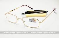 Небольшие очки для зрения с диоптриями (+) в металлической оправе
