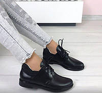 Туфли  на шнурках, кожа натуральная