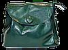 Женская сумочка из натуральной кожи с пуговицей зеленого цвета GIF-060331