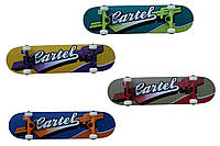 Скейтборд/скейт спортивный Electra с маневренной подвеской: 4 цвета, размер 84х22см
