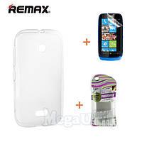 Remax Силиконовый чехол+пленка+пакет для Nokia Lumia 510