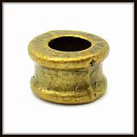 """Металл. бусина """"рондель"""" бронза (d 0,7 х 0,4 см) 30 шт в уп."""