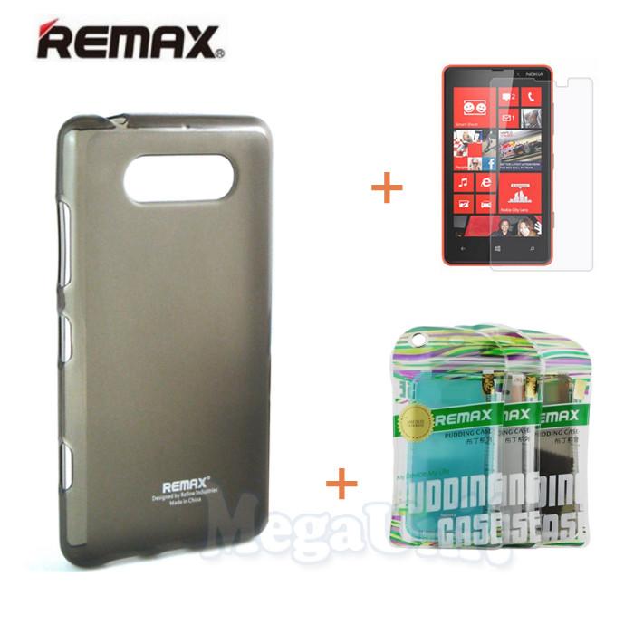 Remax Силіконовий чохол+плівка+пакет для Nokia Lumia 820