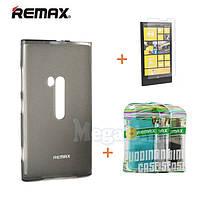 Remax Силиконовый чехол+пленка+пакет для Nokia Lumia 920