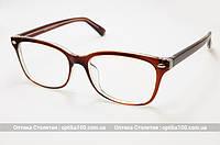 Женские очки для компьютера коричневые. Стеклянные линзы