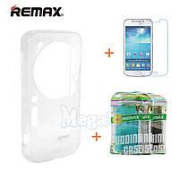 Remax Силиконовый чехол+пленка+пакет для Samsung Galaxy S4 Zoom (c1010), фото 1