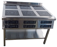 Плита индукционная Tehma 6 х 3,5 кВт на 6 конфорок напольная (1177х900 мм)