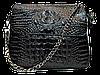 Оригинальная женская сумка из натуральной кожи черного цвета RYW-044010