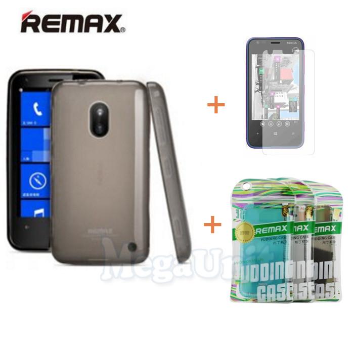 Remax Силиконовый чехол+пленка+пакет для Nokia Lumia 620