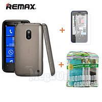 Remax Силиконовый чехол+пленка+пакет для Nokia Lumia 620, фото 1