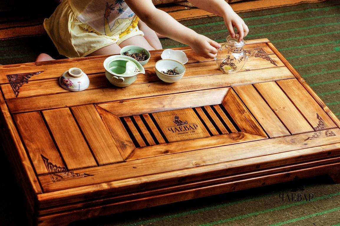 Чайный стол Чабань 90*65см ручной работы Традиционный столик для церемоний