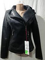 """Женская куртка из искусственной кожи """"Angmifer"""" (S-XL, норма) Китай — купить оптом по низким ценам G902"""