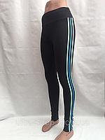 Лосины женские, эластик, мятные полоски,  размеры S M L XL, №5253, фото 1