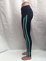 Лосины женские, эластик, мятные полоски,  размеры S  L XL, №5252, фото 1