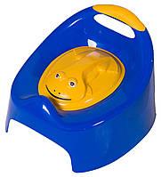 Горшок Tega Жабка С Крышкой AG-004 FROG синие (с желтой крышкой)