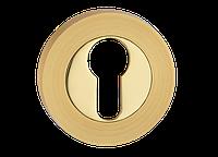 Накладка дверная под цилиндр MVM E3 PB/SB - полированная латунь/матовая латунь
