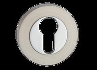 Накладка дверная под цилиндр MVM E3  SN/CP - матовый никель/полированный хром