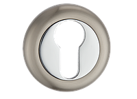 Накладка дверная под цилиндр MVM  E5  SN/CP- матовый никель/полированный хром