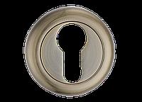 Накладка дверная под цилиндр MVM E5 AB  (старая бронза)