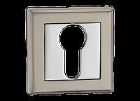 Накладка дверная под цилиндр MVM  E8 SN/CP - матовый никель/полированный хром