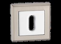 Накладка дверная под цилиндр MVM E8-2 SN/CP - матовый никель/полированный хром