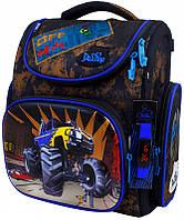 Рюкзак Delune 3-152 школьный детский для мальчиков рюкзачек для сменки и часы 30 см х 16 см х 36 см