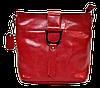 Сумка женская красного цвета из натуральной кожи с пряжкой FFG-566011
