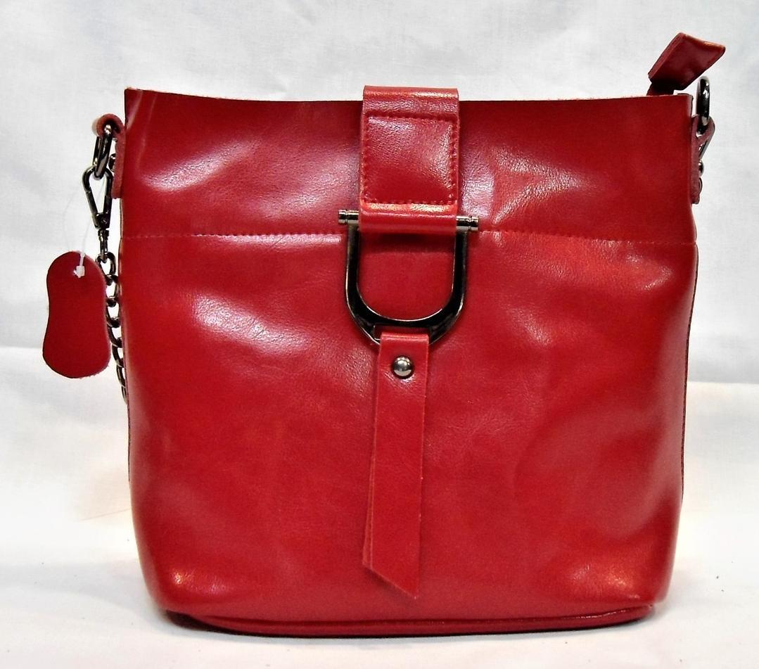 13a5d2d9aaa7 Сумка женская красного цвета из натуральной кожи с пряжкой FFG-566011